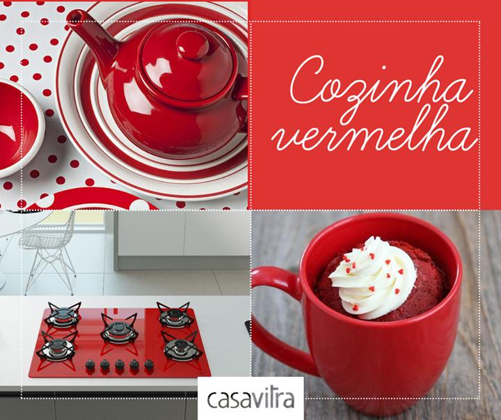 Vermelho é uma cor intensa, apaixonante. Que tal levar para a sua cozinha?  Cooktop vermelho 5 bocas: http://ow.ly/EunMp #casavitra #cooktop #cozinha #vermelho