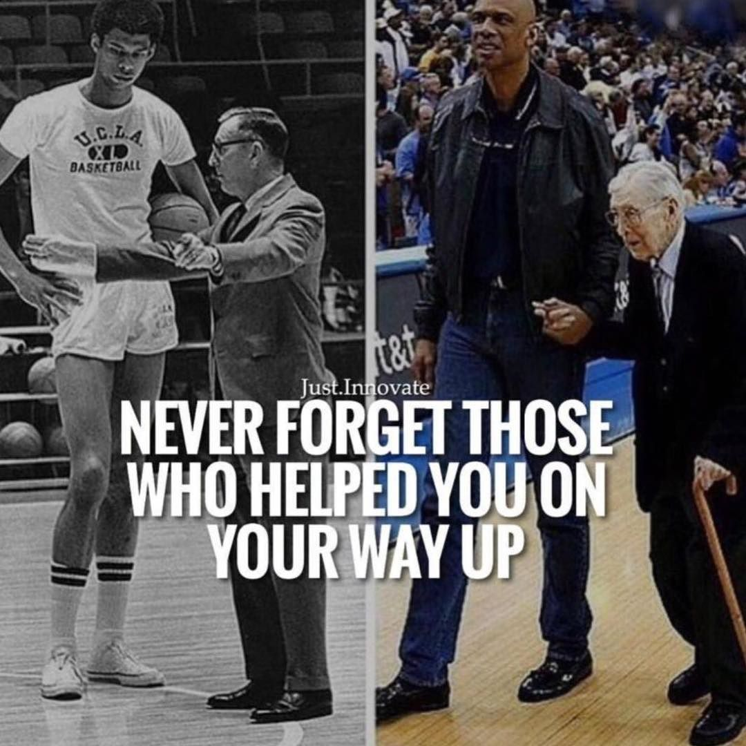 You didn't get here by yourself. Never forget those who helped you on your way up.  #365DaysOfAwesome