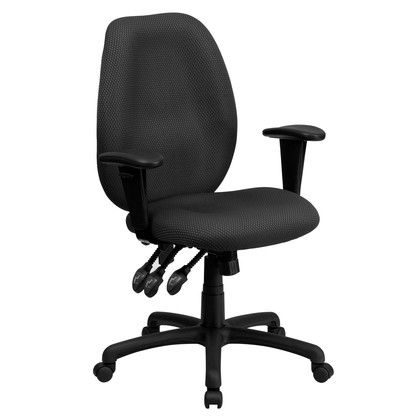 high back gray fabric multifunction ergonomic executive swivel chair