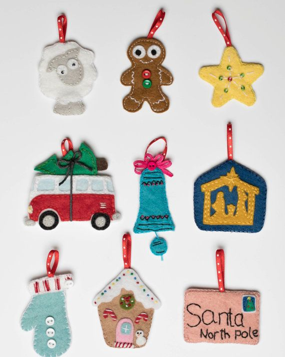 Advent Calendar PDF Pattern instant download - Christmas Tree; Felt