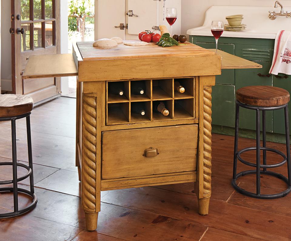 Mezzo Extending Kitchen Island Kitchen Napa Style Furniture