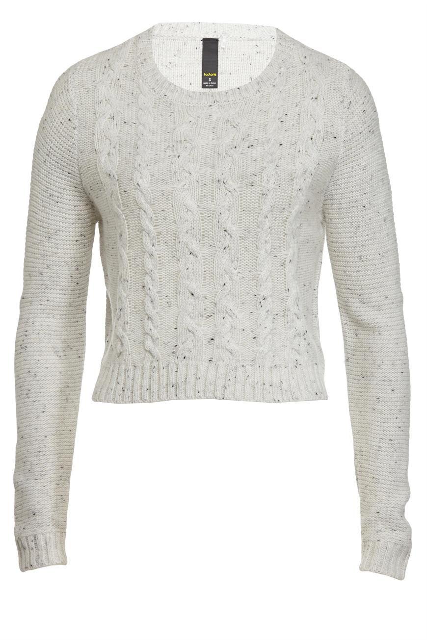 8eee30c07 cablie knit cropped jumper