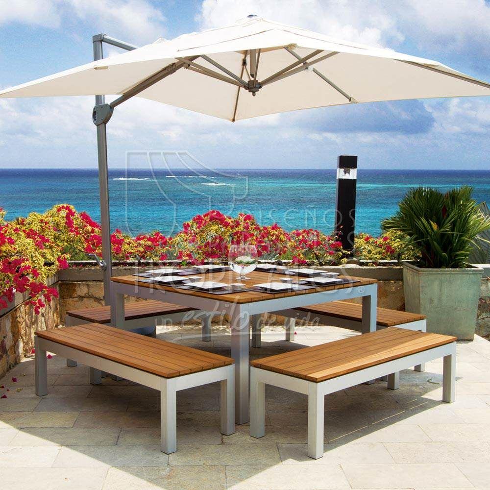 Sombrillas terraza sombrillas cuadradas mobiliario - Sombrillas terraza ikea ...