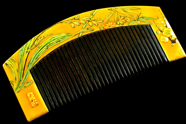 Antique Kanzashi Hair Comb - Antique Kanzashi Kushi - Hair Comb Kanzashi Antique…