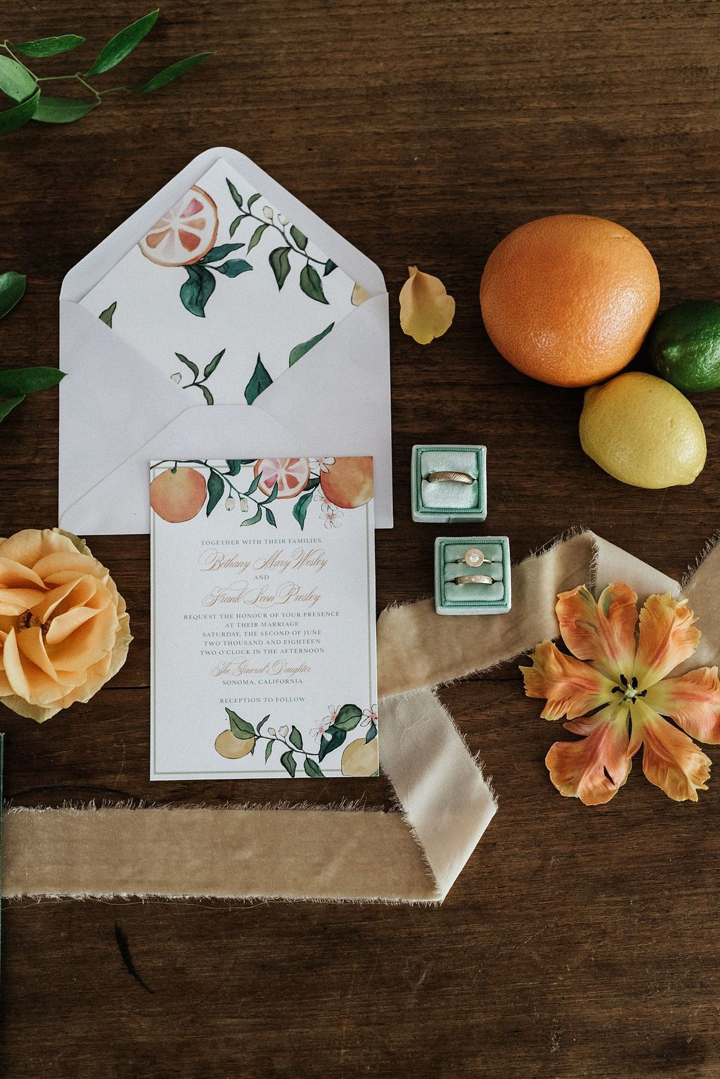 Citrus Styled Shoot Styled wedding shooting, Linen