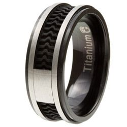 Rubber Band Wedding Rings >> Men S Two Tone Titanium Rubber Inlay Band Wedding Ideas