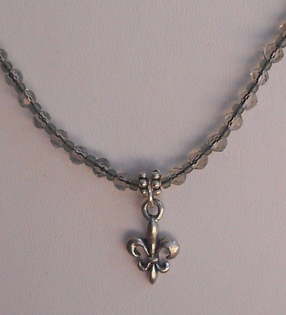 Fleur de Lis pendant necklace by LoveHAIGHTDesigns on Etsy, $21.00