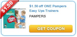 Save 3 On Pampers Pampers Easy Ups Printable Coupons