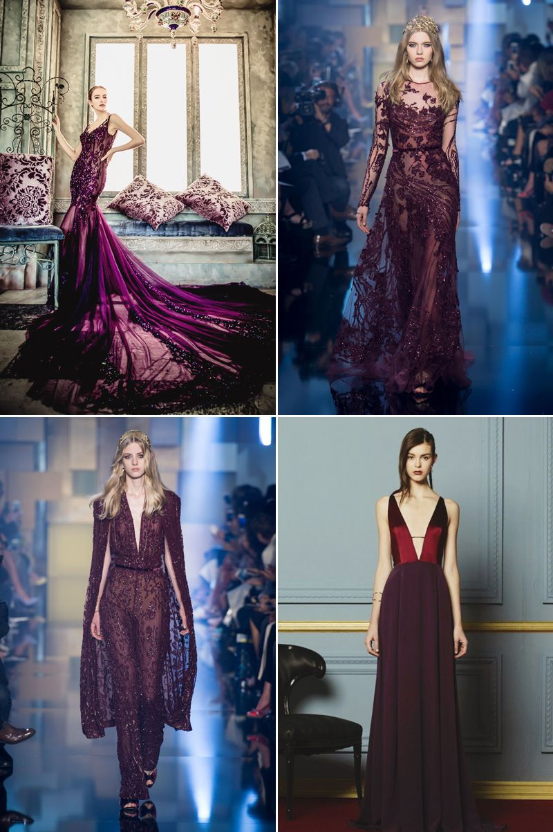 hot color trends for wedding reception dresses traditional