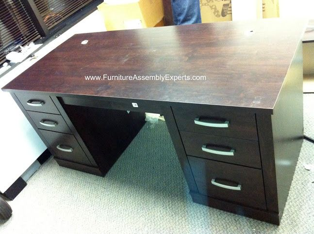 Sauder Office Port Executive Desk Assembled In Washington DC By Furniture  Assembly Experts Company