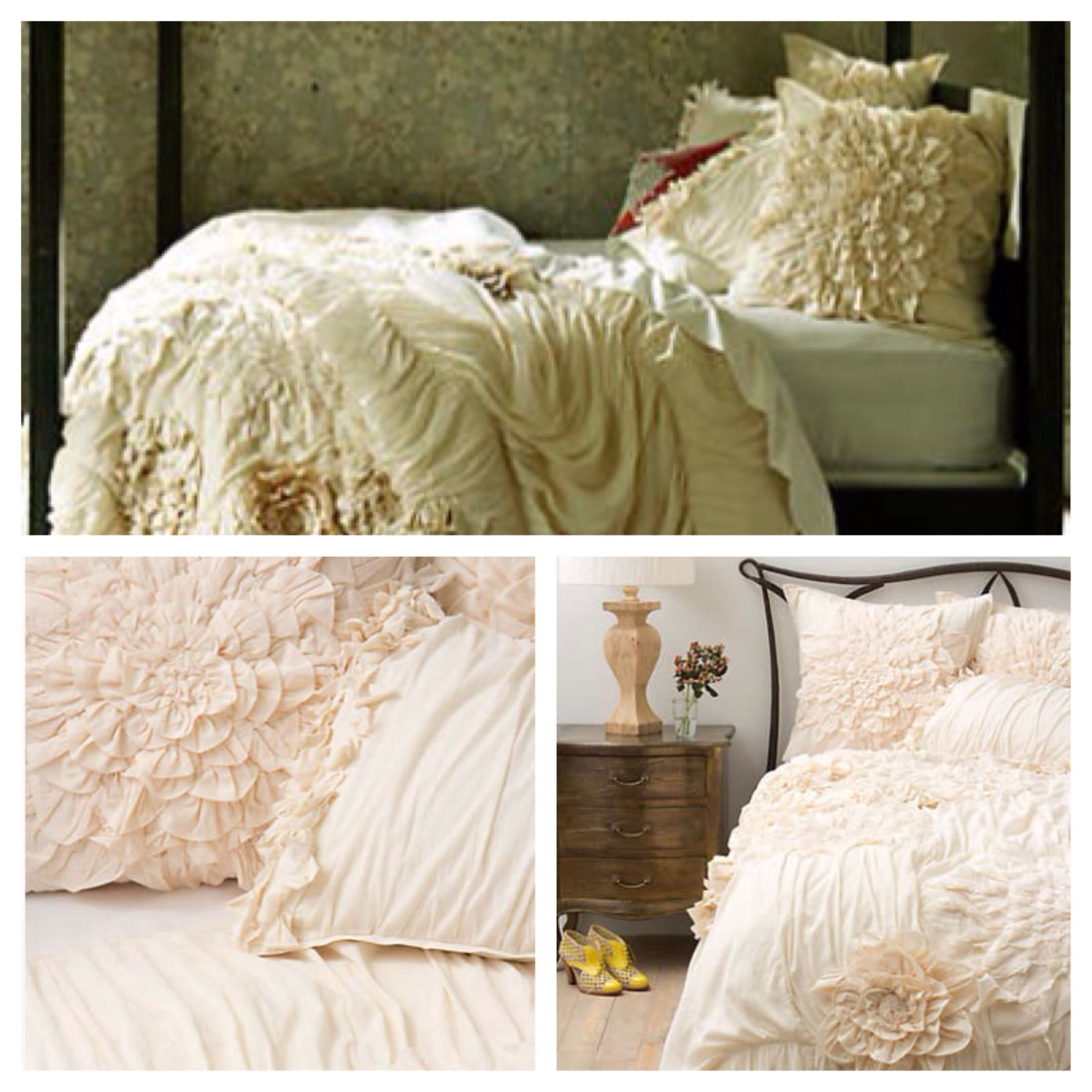 Couldn't be more in love with this bedding from Anthropologie