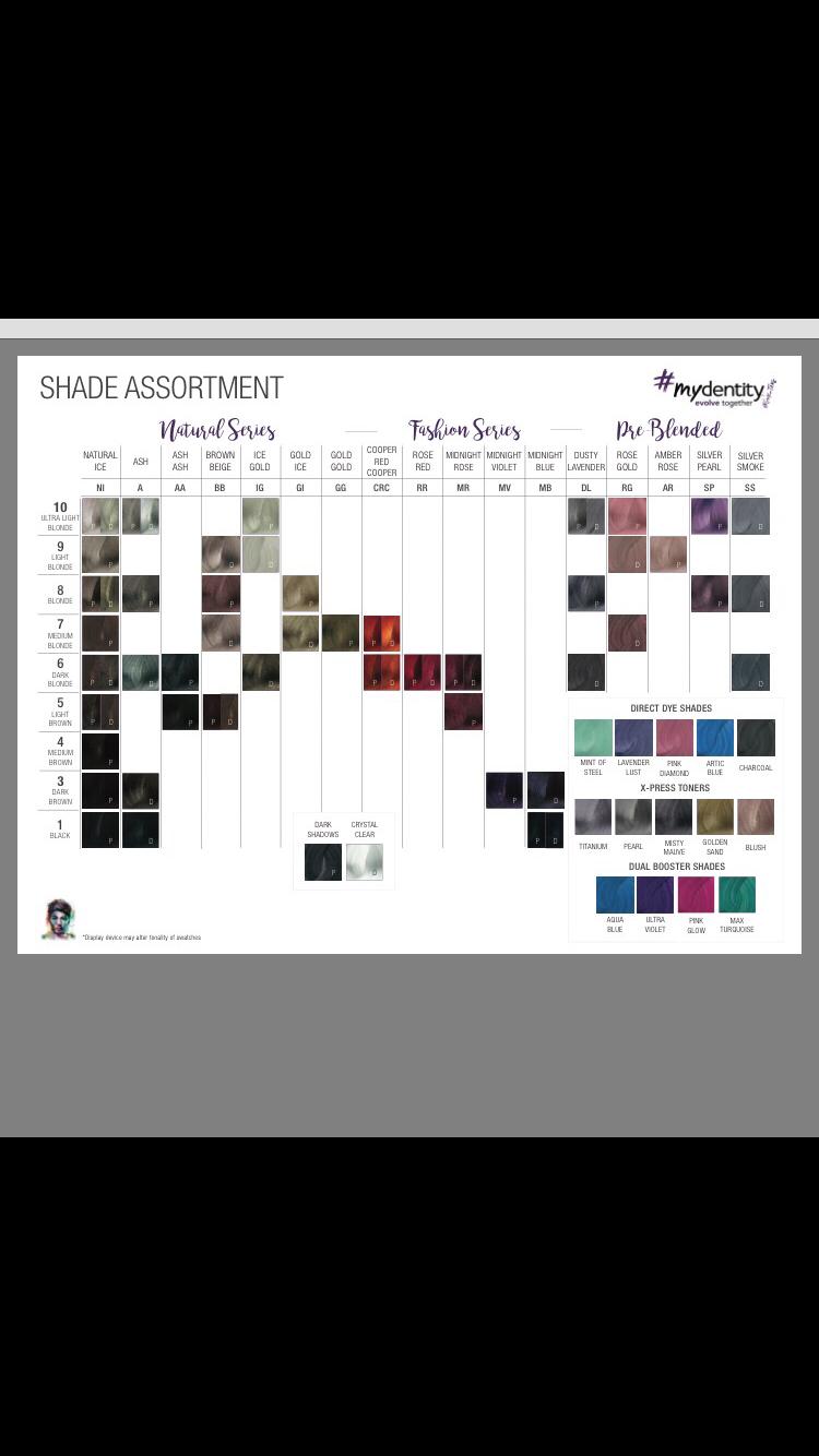 Mydentity Colour Chart Guy Tang Hair Hair Color Chart Guy Tang