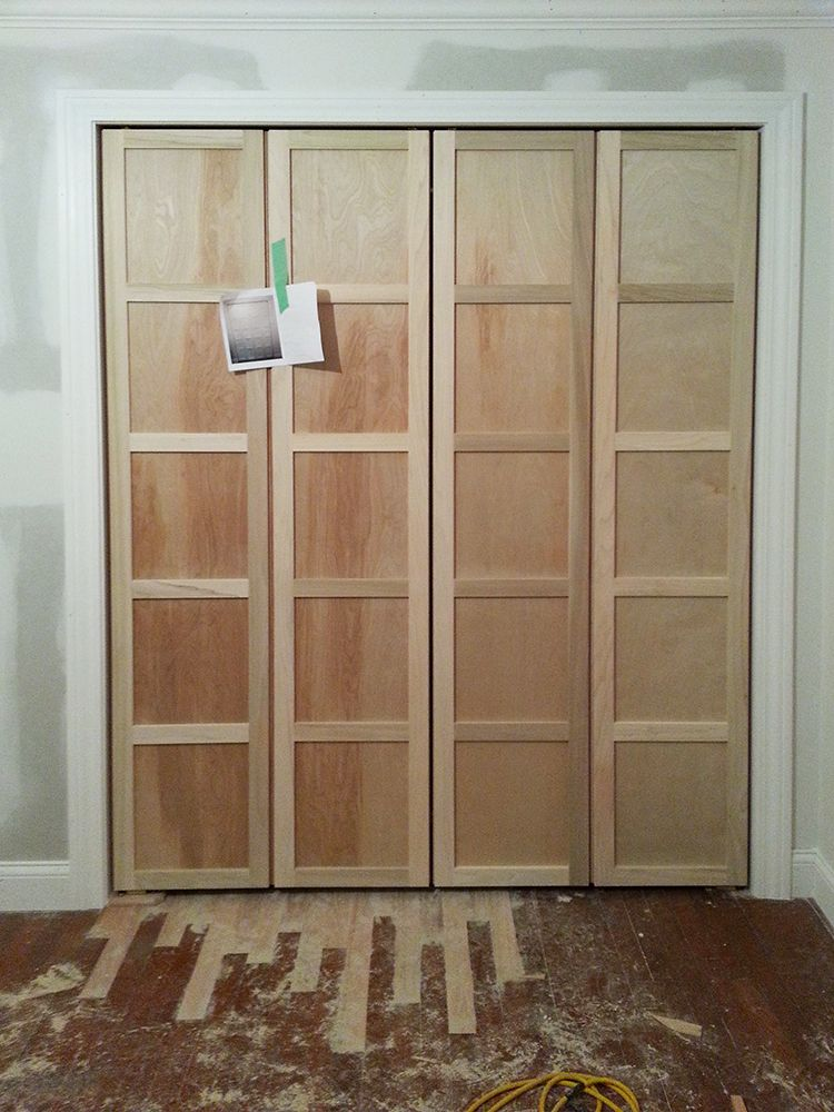 Paneled Bi Fold Closet Door Diy Diy Closet Doors Closet Door