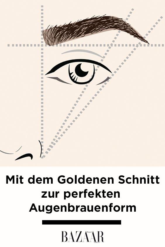 der goldene schnitt f r die perfekte augenbrauen form beauty tipps pinterest goldener. Black Bedroom Furniture Sets. Home Design Ideas