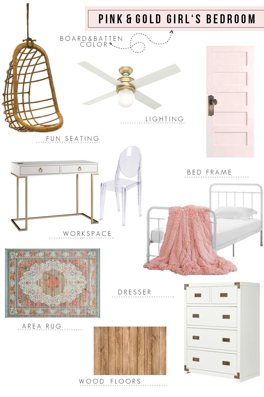 Pink & Gold Bedroom Design images