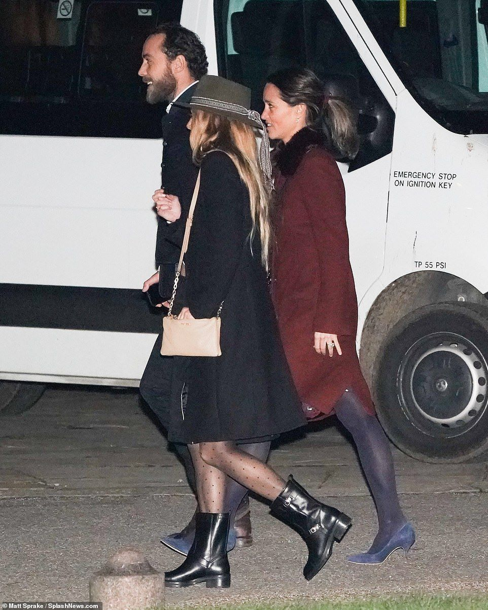 74685515b5a Pippa and James Middleton arrive at tonight s charity carol concert in  Chelsea with a frie.