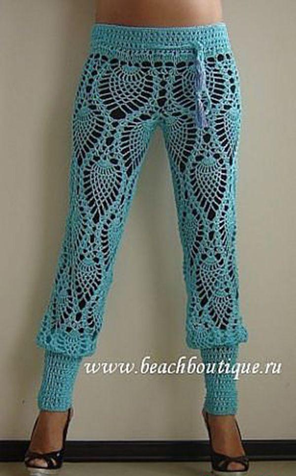 Roundup Of Beautiful Crochet Trouser Pants From Crochetstuff