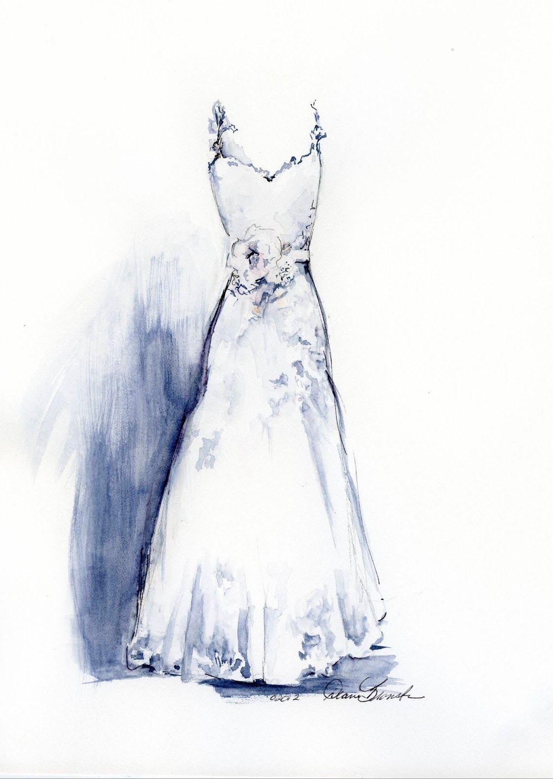 Wedding Dress Paintings By Diane Bronstein Dress Painting