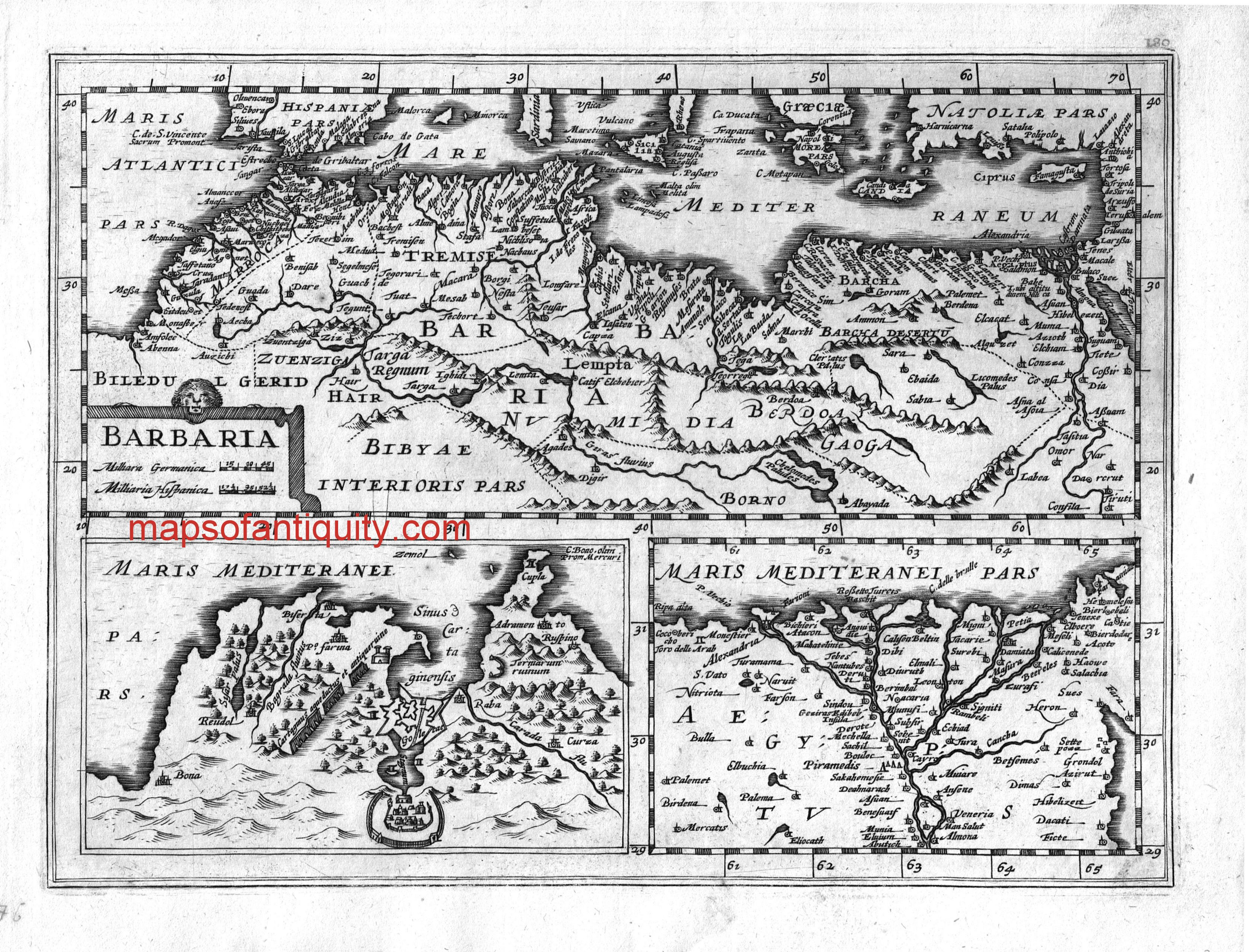 Barbaria Africa Maps of Antiquity Antique Map | Antique Maps and