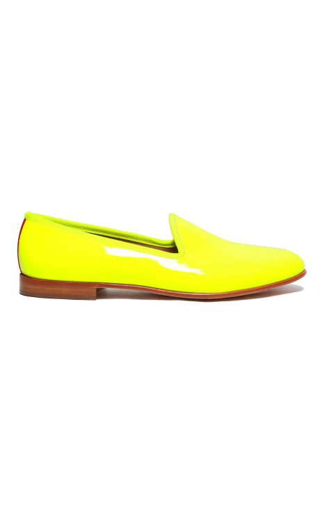 "Del Toro Fall ""Prince Albert"" slipper in neon! $335"