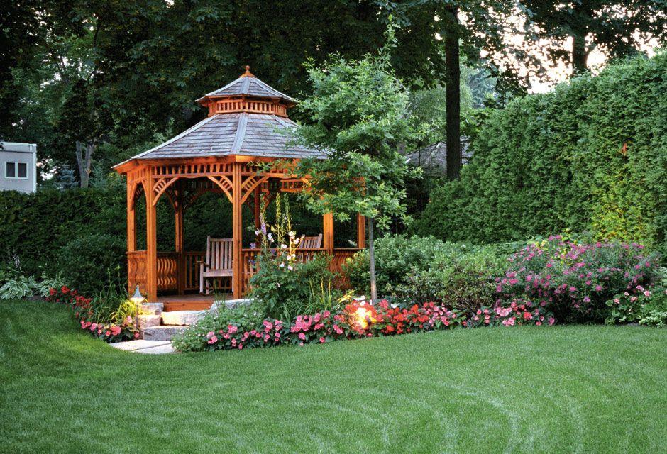 cool garden designs with gazebo - Google Search Gardening