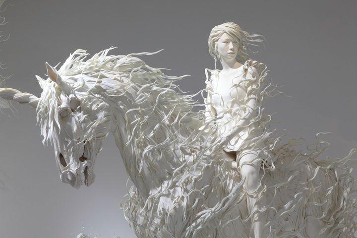 photos of beautiful sculptures  | ... is motohiko odani s hauntingly beautiful sculptures his unique style