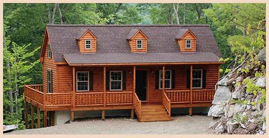 Log Home Plans Cape Cod - 0425