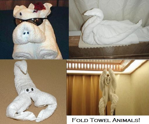 Use Origami to Fold Towels into Wild Animals! « Bathroom Vanity Blog Bathroom Vanity Blog
