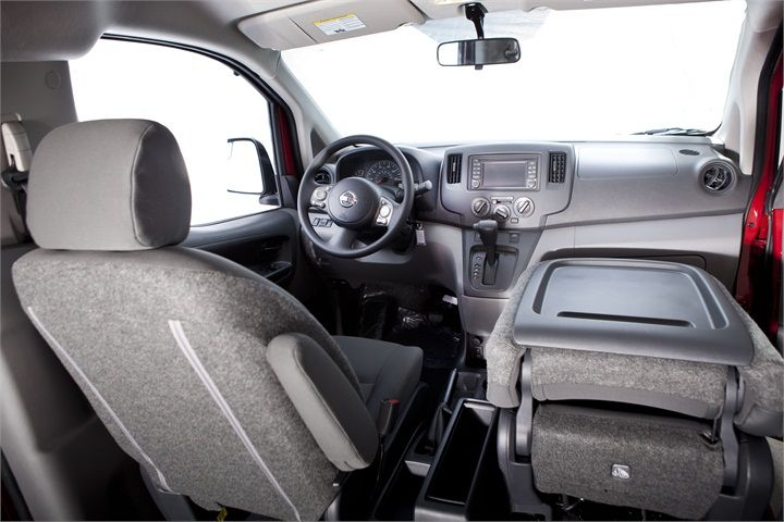 The Front Passenger Seat Can Fold Down To Provide A Work