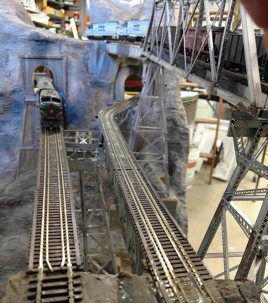 Johns model railroad bridge update model railroad