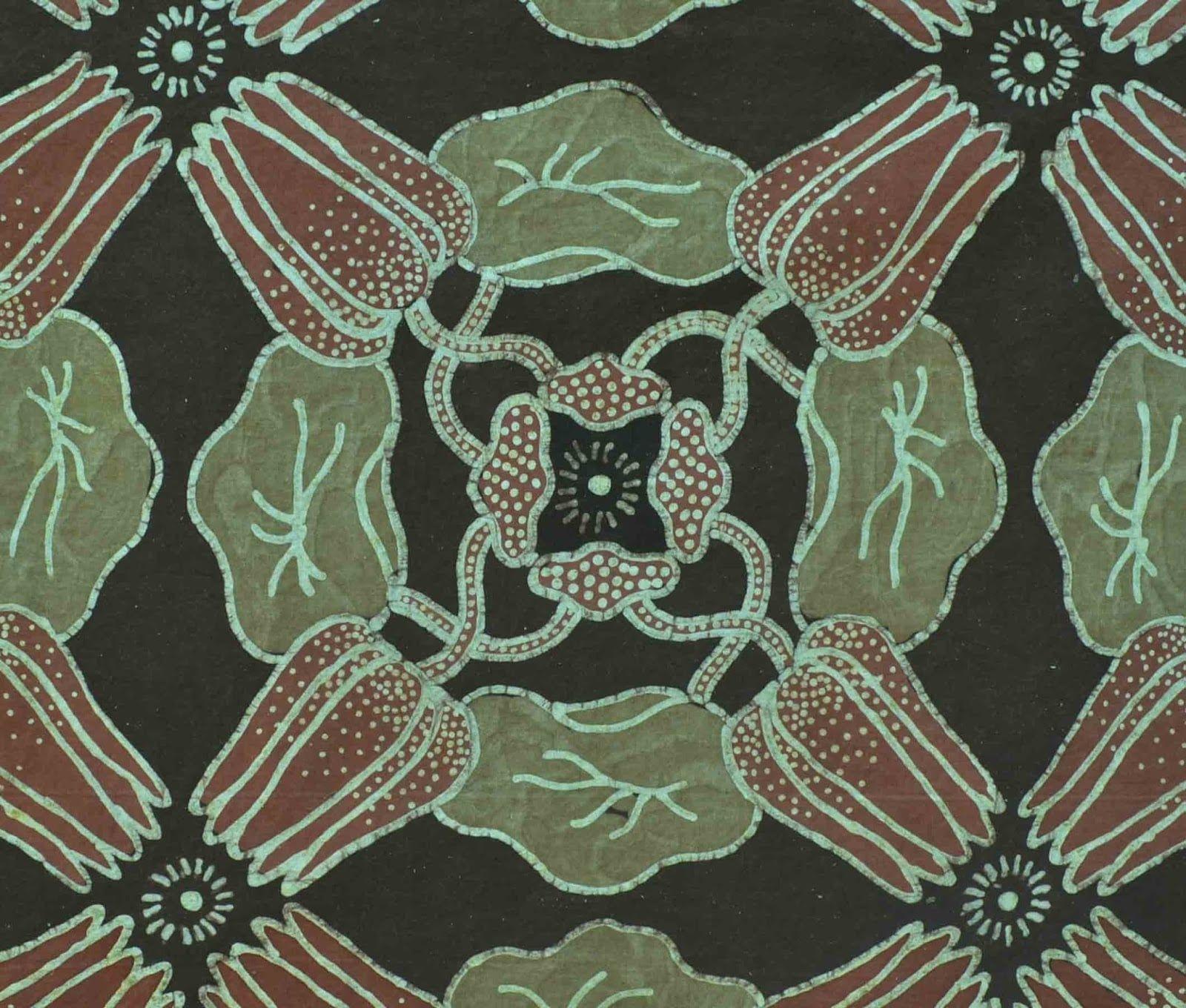 Batik Motif Bunga Teratai