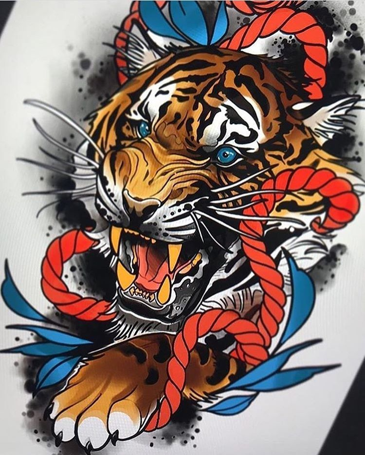 Addflash Tren Instagram By Zactattoocrew Send Yours Picture To Addflashit Gmail Com Flashta Tiger Tattoo Design Japanese Tattoo Art Tiger Tattoo