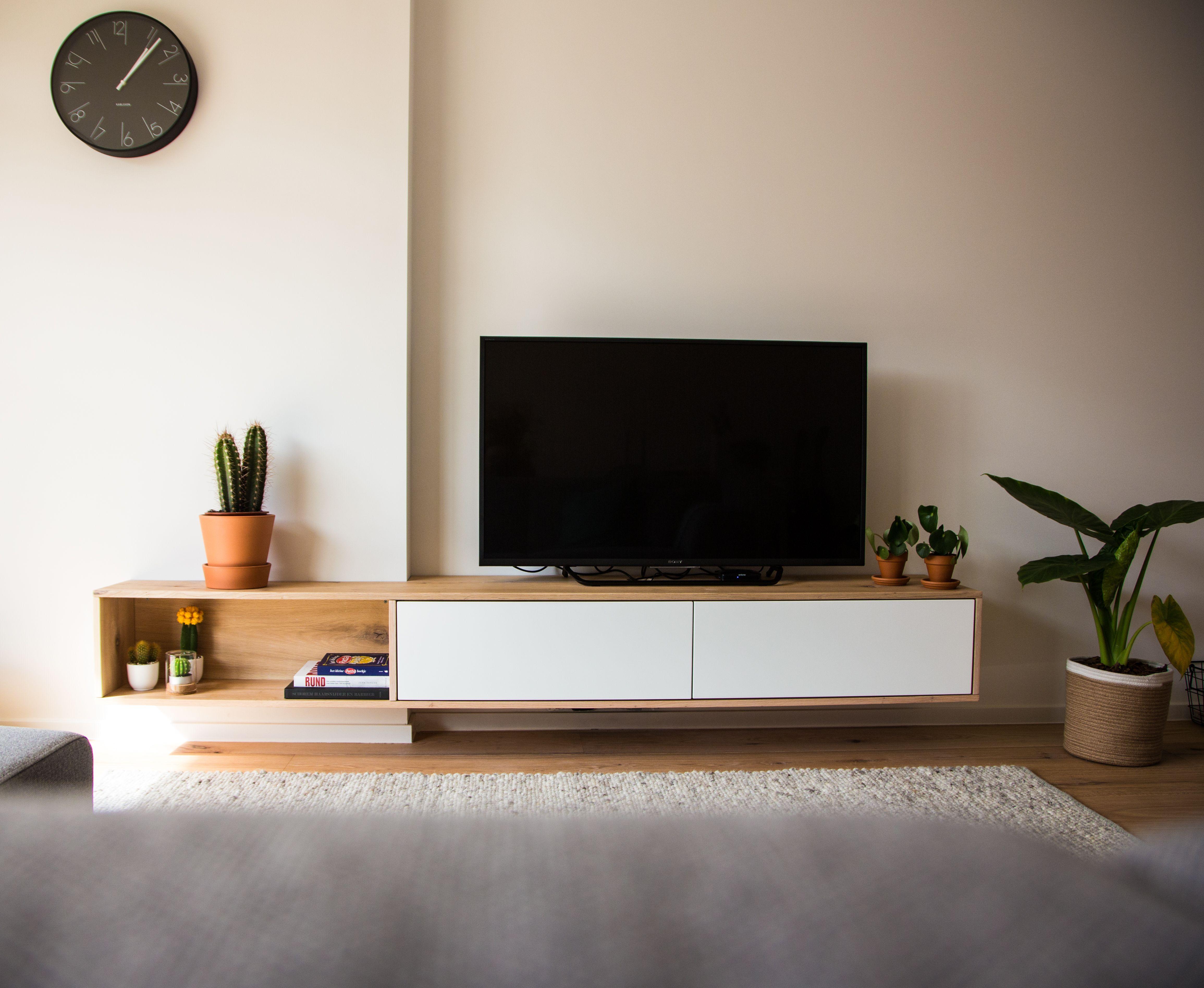 Berka Projects Zwevend Tv Meubel Eiken Wit Furniture In