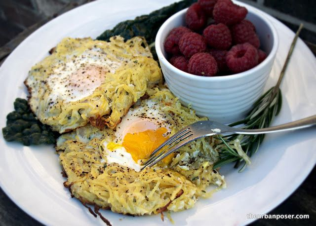 Rosemary Spaghetti Squash Egg Nests by Urban Poser