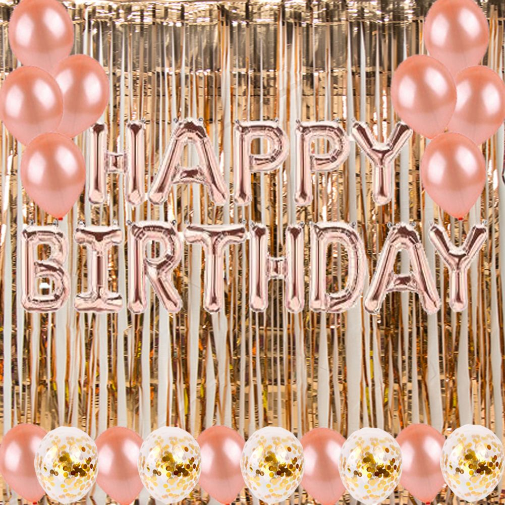 gold birthday party decorations