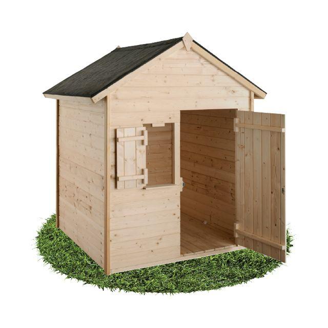 maisonnette en bois janaka 2 castorama - Maison De Jardin Enfant En Bois