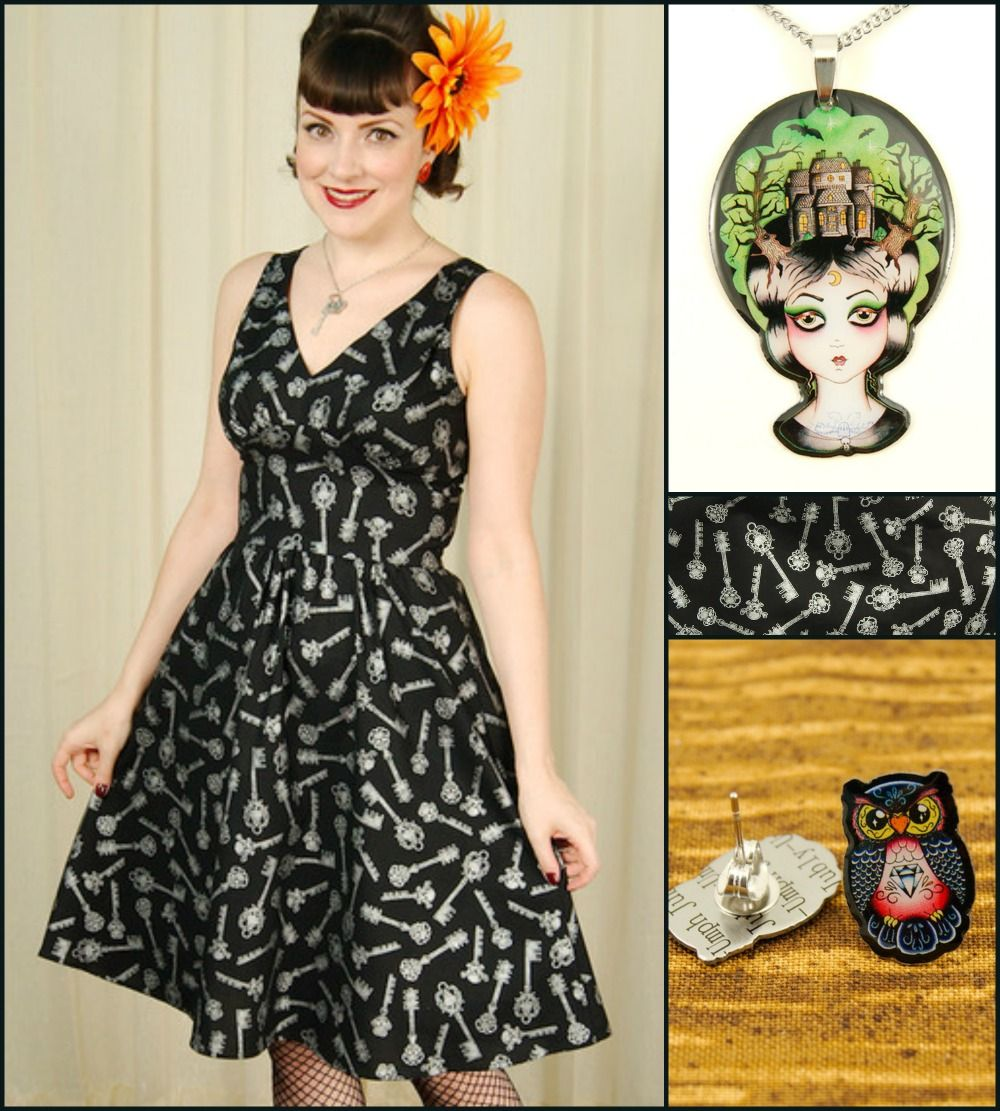 Cute and Creepy style with Jubly-Umph #retrowithanedge #folterclothing http://catslikeus.com/blog/articles/style-inspiration-cute-and-creepy-with-jubly-umph