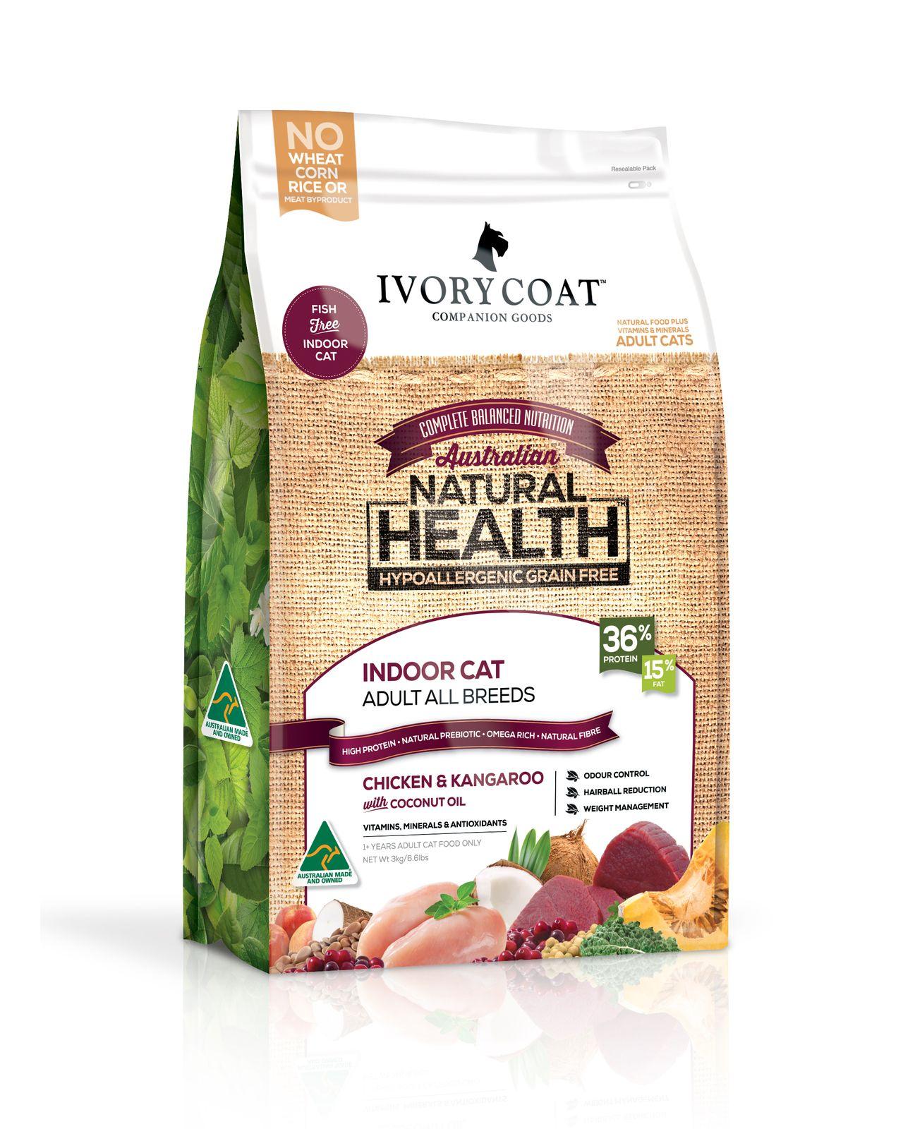 Ivory Coat Indoor Cat Chicken Kangaroo Dry Cat Food Kitten Food Dry Cat Food Healthy Meals For Two