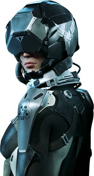 Woman Armor Sci Fi Cyberpunk Futuristic Armour