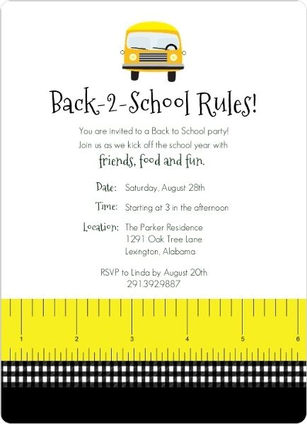 Back to school party flyer   back to school party invitation card.