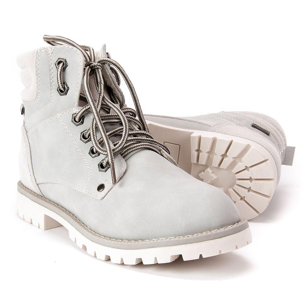 Traperki Damskie Mckey Tr 398 17 Gr Szare Trekkingowe Botki Na Plaskim Obcasie Botki Na Obcasie Botki Buty Damskie Filippo Timberland Boots Boots Shoes