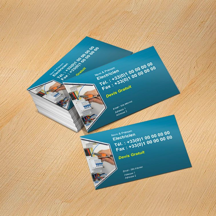 Modele Carte De Visite Electricien A Personnaliser Fond Modele Carte De Visite Carte De Visite Carte De Visite Gratuite