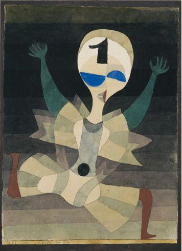 Collection Online | Paul Klee. Runner at the Goal (Läufer am Ziel). 1921 - Guggenheim Museum