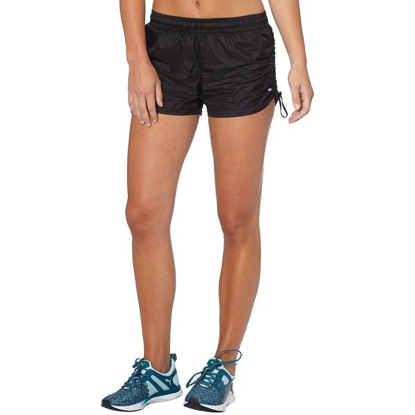 Puma Woven Gym Shorts ($21) ❤ liked on Polyvore featuring activewear,  activewear shorts