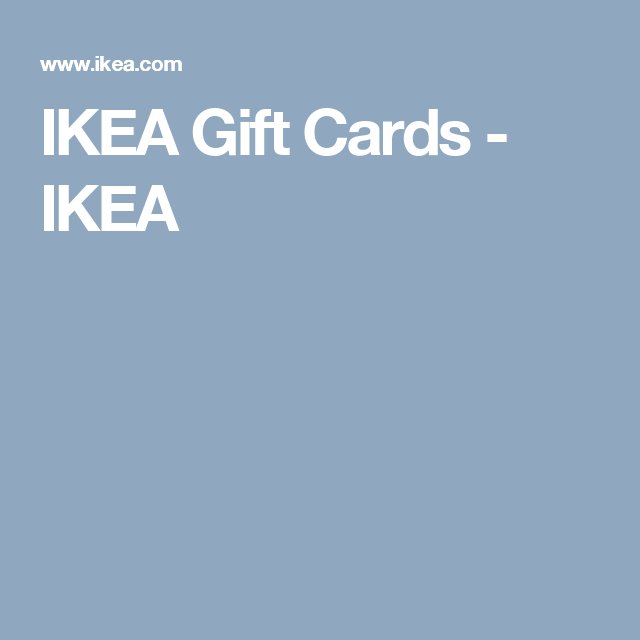 Ikea Gift Cards Gifts