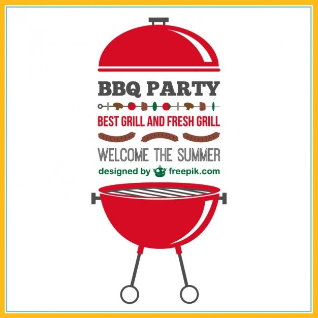 barbecue-party-vector-invitation_23-2147495126.jpg (626×626) | BBQ ...