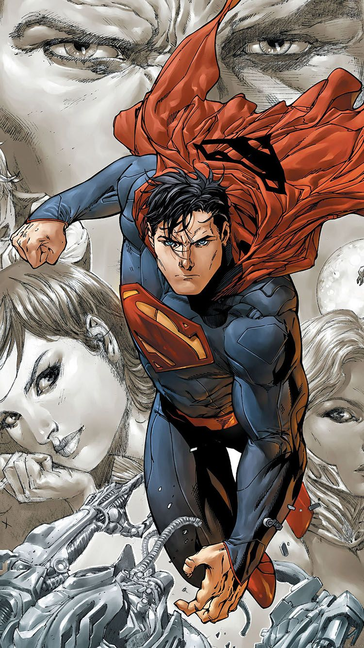 For Geeks Cartoon Movies Superman Comics Animated Cool Wonder Superhero HD IPhone Multicolored Guys 6 Wallpaper