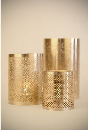 Punched Metal Votive Holders