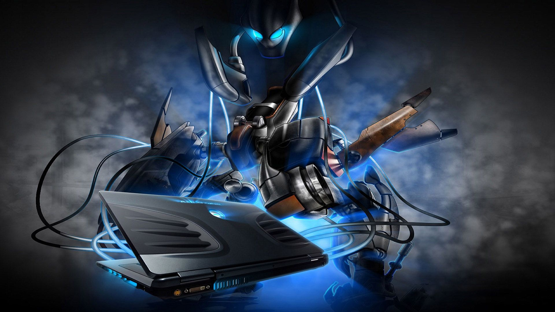 3d Alienware Mech Hd Wallpaper Seni Karakter Gambar Disney Up