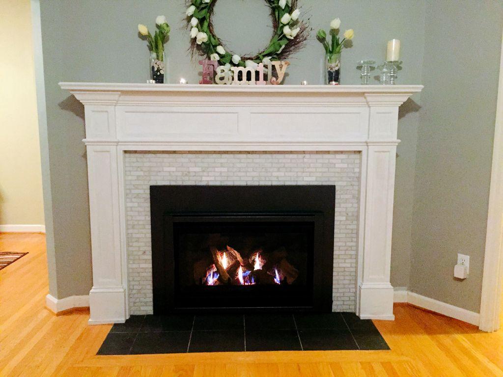 painting slate fireplace hearth fireplace pinterest slate